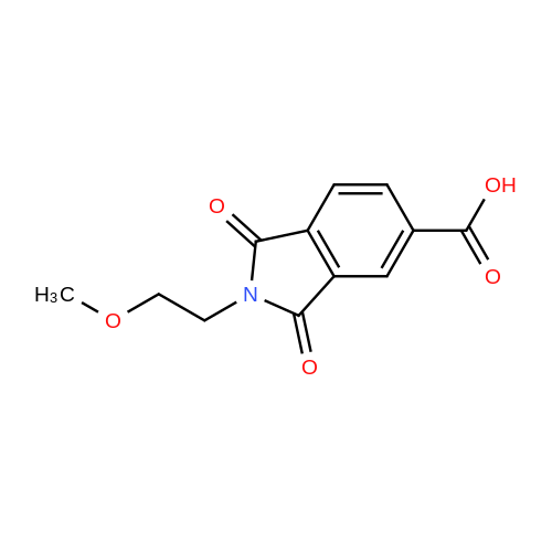 2-(2-Methoxyethyl)-1,3-dioxoisoindoline-5-carboxylic acid