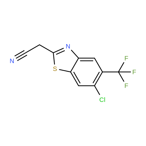 2-(6-Chloro-5-(trifluoromethyl)benzo[d]thiazol-2-yl)acetonitrile