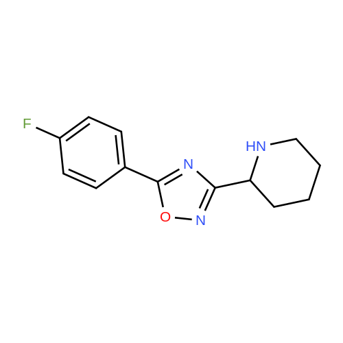 5-(4-Fluorophenyl)-3-(piperidin-2-yl)-1,2,4-oxadiazole