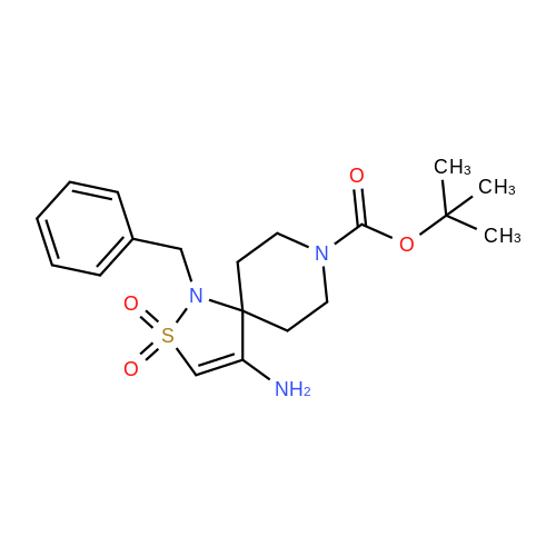 tert-Butyl 4-amino-1-benzyl-2-thia-1,8-diazaspiro[4.5]dec-3-ene-8-carboxylate 2,2-dioxide
