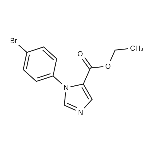Ethyl 1-(4-bromophenyl)-1H-imidazole-5-carboxylate