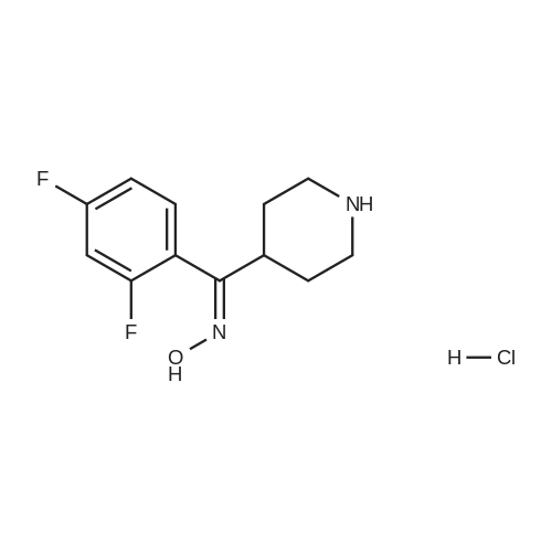 (2,4-Difluorophenyl)(piperidin-4-yl)methanone oxime hydrochloride