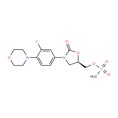 (R)-(3-(3-Fluoro-4-morpholinophenyl)-2-oxooxazolidin-5-yl)methyl methanesulfonate