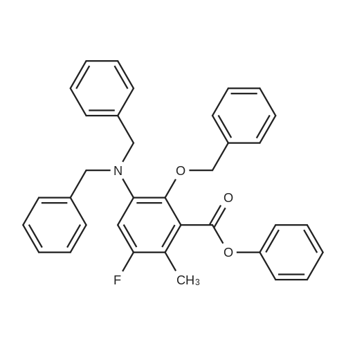 Phenyl 2-(benzyloxy)-3-(dibenzylamino)-5-fluoro-6-methylbenzoate