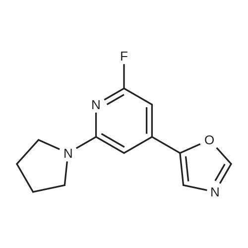 5-(2-Fluoro-6-(pyrrolidin-1-yl)pyridin-4-yl)-oxazole