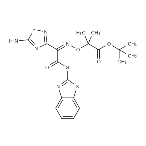 (Z)-tert-Butyl 2-(((1-(5-amino-1,2,4-thiadiazol-3-yl)-2-(benzo[d]thiazol-2-ylthio)-2-oxoethylidene)amino)oxy)-2-methylpropanoate