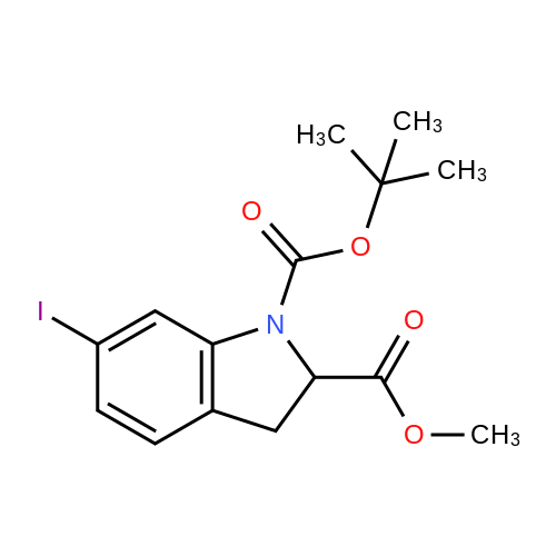 1-tert-Butyl 2-methyl 6-iodoindoline-1,2-dicarboxylate