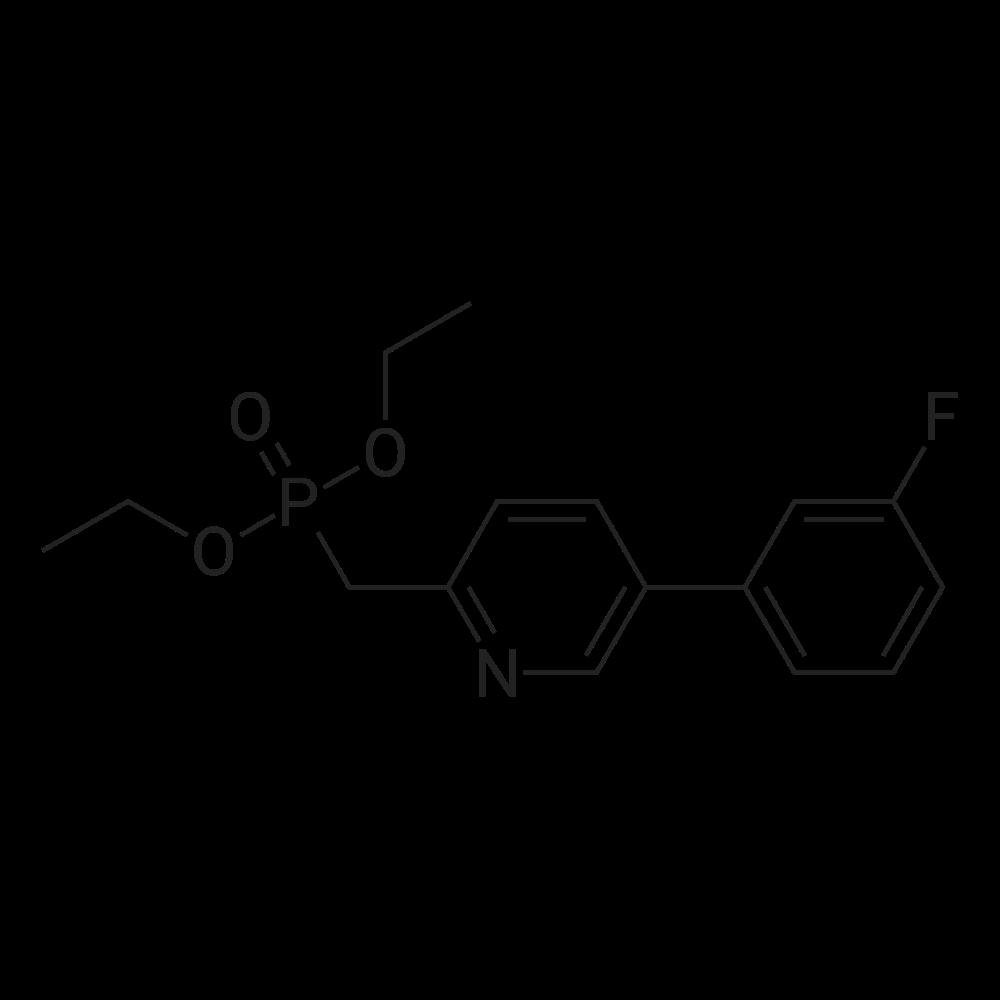 Diethyl ((5-(3-fluorophenyl)pyridin-2-yl)methyl)phosphonate