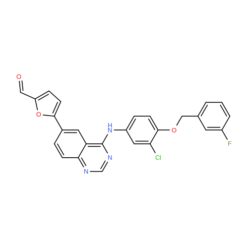 5-(4-((3-Chloro-4-((3-fluorobenzyl)oxy)phenyl)amino)quinazolin-6-yl)furan-2-carbaldehyde