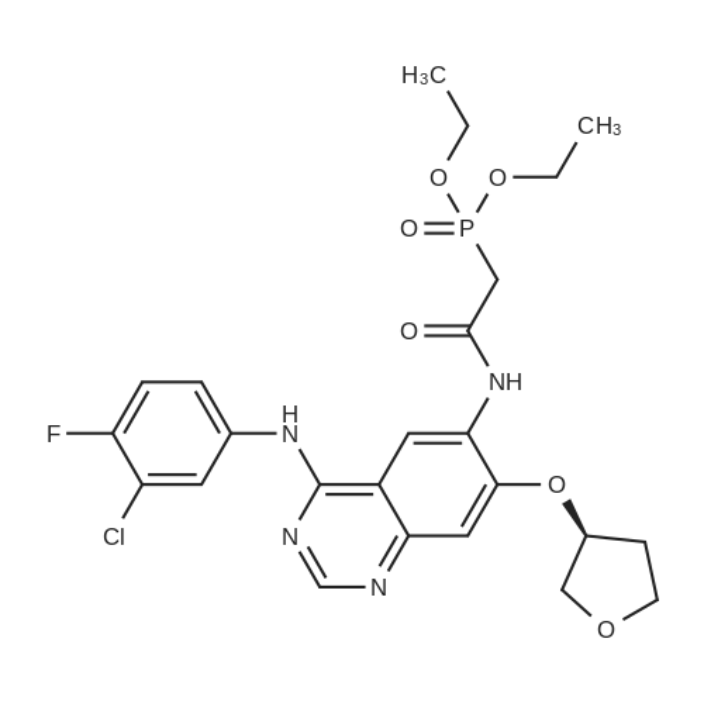 (S)-Diethyl 2-(4-(3-chloro-4-fluorophenylamino)-7-(tetrahydrofuran-3-yloxy)quinazolin-6-ylamino)-2-oxoethylphosphonate