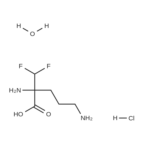 Eflornithine hydrochloride hydrate