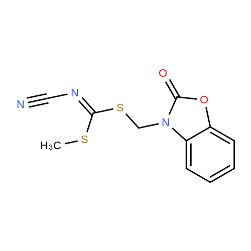 Methyl ((2-oxobenzo[d]oxazol-3(2H)-yl)methyl) cyanocarbonimidodithioate