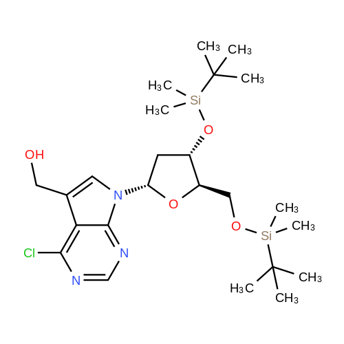 7H-Pyrrolo[2,3-d]pyrimidine-5-methanol, 4-chloro-7-[2-deoxy-3,5-bis-O-[(1,1-dimethylethyl)dimethylsilyl]-beta-D-erythro-pentofuranosyl]-
