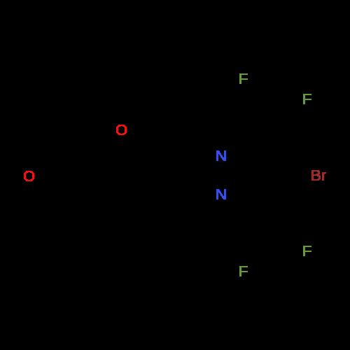 5-((4-Bromo-3,5-bis(difluoromethyl)-1H-pyrazol-1-yl)methyl)furan-2-carbaldehyde