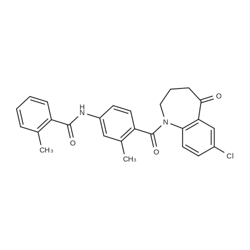N-(4-(7-Chloro-5-oxo-2,3,4,5-tetrahydro-1H-benzo[b]azepine-1-carbonyl)-3-methylphenyl)-2-methylbenzamide