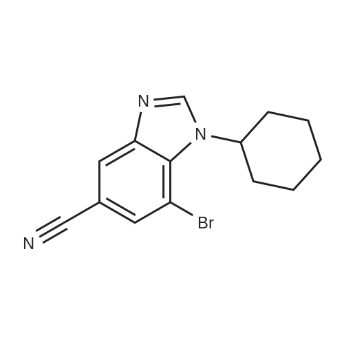 7-Bromo-1-cyclohexyl-1H-benzo[d]imidazole-5-carbonitrile