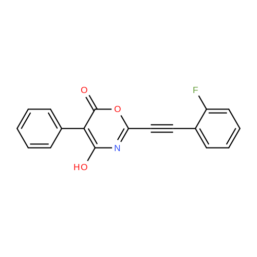 2-((2-Fluorophenyl)ethynyl)-4-hydroxy-5-phenyl-6H-1,3-oxazin-6-one