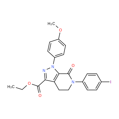 Ethyl 6-(4-iodophenyl)-1-(4-methoxyphenyl)-7-oxo-4,5,6,7-tetrahydro-1H-pyrazolo[3,4-c]pyridine-3-carboxylate