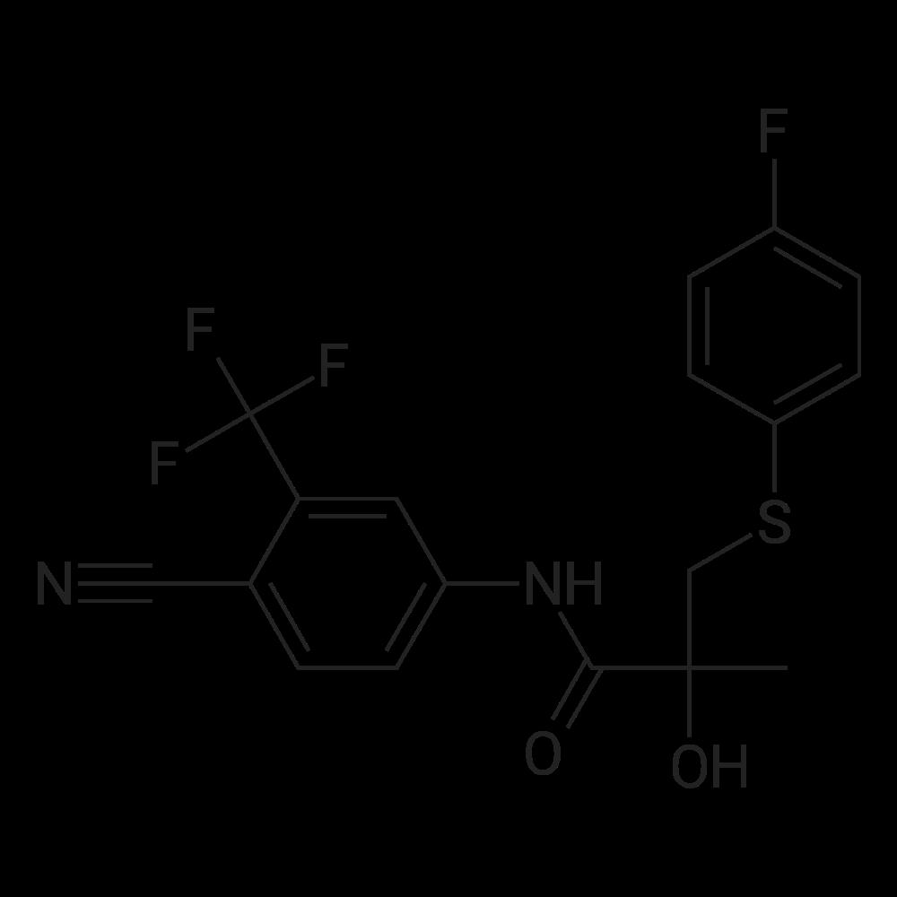 N-(4-Cyano-3-(trifluoromethyl)phenyl)-3-((4-fluorophenyl)thio)-2-hydroxy-2-methylpropanamide
