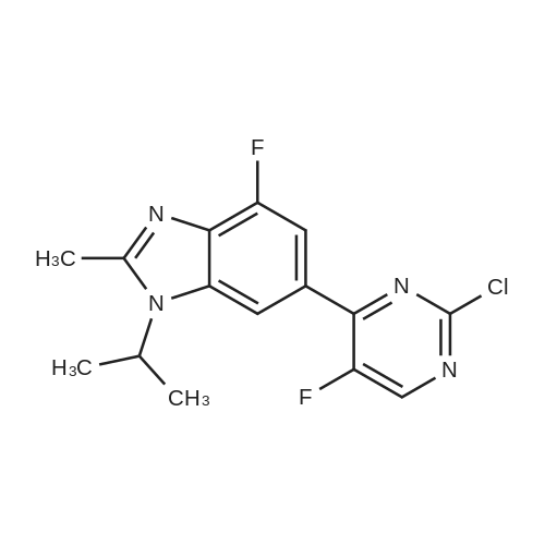 6-(2-Chloro-5-fluoropyrimidin-4-yl)-4-fluoro-1-isopropyl-2-methyl-1H-benzo[d]imidazole