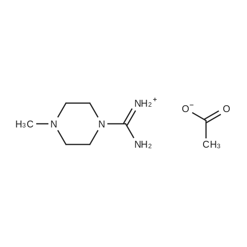 Amino(4-methylpiperazin-1-yl)methaniminium acetate