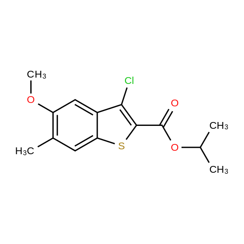Isopropyl 3-chloro-5-methoxy-6-methylbenzo[b]thiophene-2-carboxylate