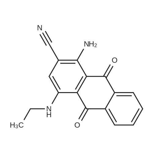 1-Amino-4-(ethylamino)-9,10-dioxo-9,10-dihydroanthracene-2-carbonitrile