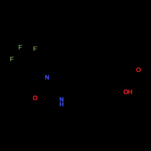 2-(4-((4-(Trifluoromethyl)oxazol-2-yl)amino)phenyl)propanoic acid