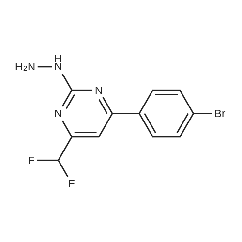 4-(4-Bromophenyl)-6-(difluoromethyl)-2-hydrazinylpyrimidine