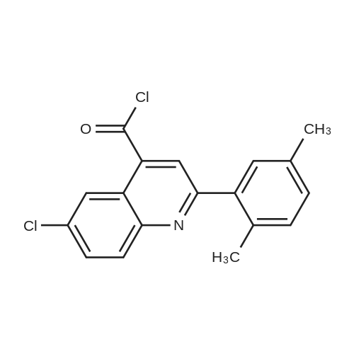 6-Chloro-2-(2,5-dimethylphenyl)quinoline-4-carbonyl chloride