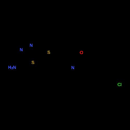 5-(((2-(4-Chlorophenyl)oxazol-4-yl)methyl)thio)-1,3,4-thiadiazol-2-amine