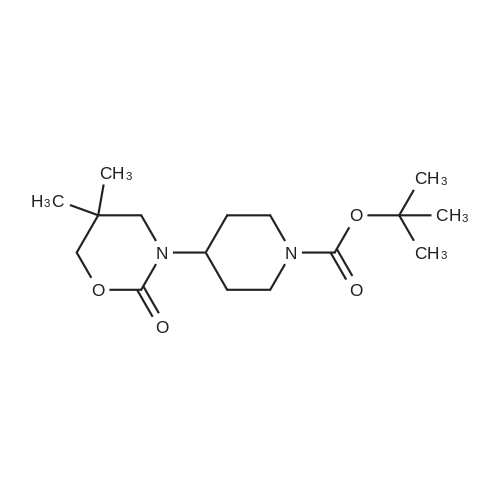 tert-Butyl 4-(5,5-dimethyl-2-oxo-1,3-oxazinan-3-yl)piperidine-1-carboxylate