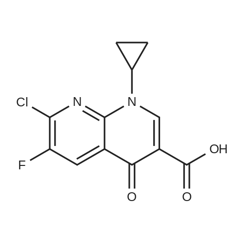 7-Chloro-1-cyclopropyl-6-fluoro-1,4-dihydro-4-oxo-1,8-naphthyridine-3-carboxylic Acid