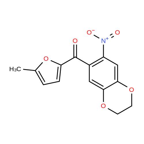 (5-Methylfuran-2-yl)(7-nitro-2,3-dihydrobenzo[b][1,4]dioxin-6-yl)methanone