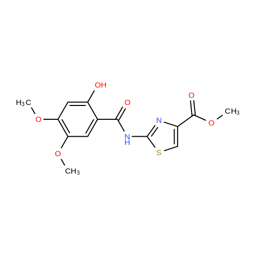 Methyl 2-(2-hydroxy-4,5-dimethoxybenzamido)thiazole-4-carboxylate