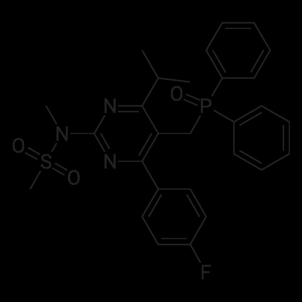 N-(5-((Diphenylphosphoryl)methyl)-4-(4-fluorophenyl)-6-isopropylpyrimidin-2-yl)-N-methylmethanesulfonamide