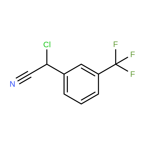 2-Chloro-2-(3-(trifluoromethyl)phenyl)acetonitrile