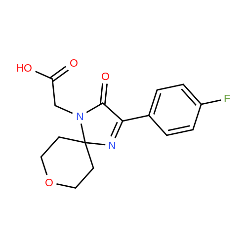 2-(3-(4-Fluorophenyl)-2-oxo-8-oxa-1,4-diazaspiro[4.5]dec-3-en-1-yl)acetic acid