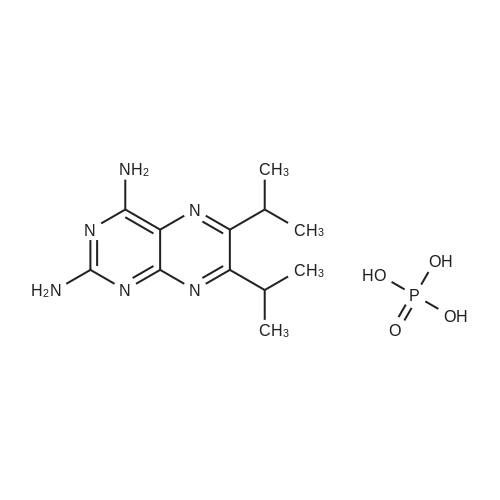 6,7-Diisopropylpteridine-2,4-diamine phosphate