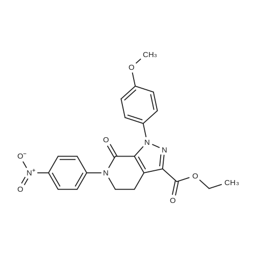 Ethyl 1-(4-methoxyphenyl)-6-(4-nitrophenyl)-7-oxo-4,5,6,7-tetrahydro-1H-pyrazolo[3,4-c]pyridine-3-carboxylate