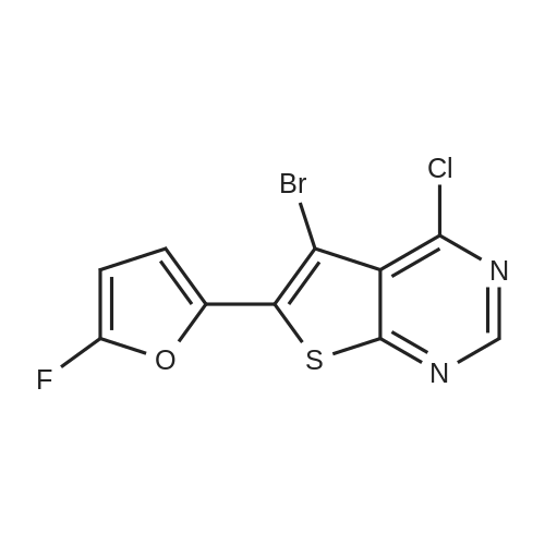 5-Bromo-4-chloro-6-(5-fluorofuran-2-yl)thieno[2,3-d]pyrimidine
