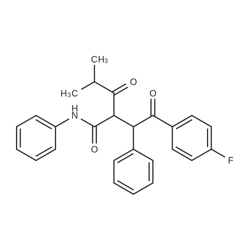 2-(2-(4-Fluorophenyl)-2-oxo-1-phenylethyl)-4-methyl-3-oxo-N-phenylpentanamide