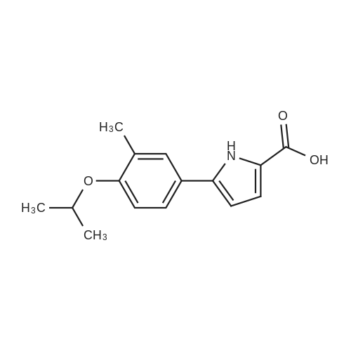 5-(4-Isopropoxy-3-methylphenyl)-1H-pyrrole-2-carboxylic acid