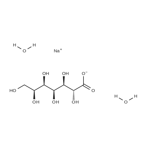 Sodium (2R,3R,4S,5R,6S)-2,3,4,5,6,7-hexahydroxyheptanoate dihydrate
