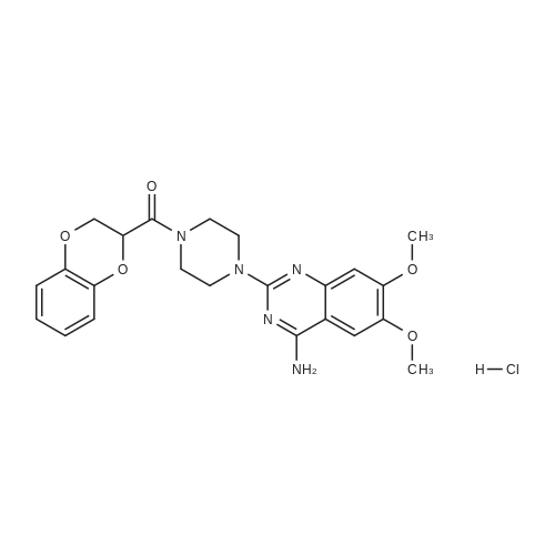 (4-(4-Amino-6,7-dimethoxyquinazolin-2-yl)piperazin-1-yl)(2,3-dihydrobenzo[b][1,4]dioxin-2-yl)methanone hydrochloride(1:x)