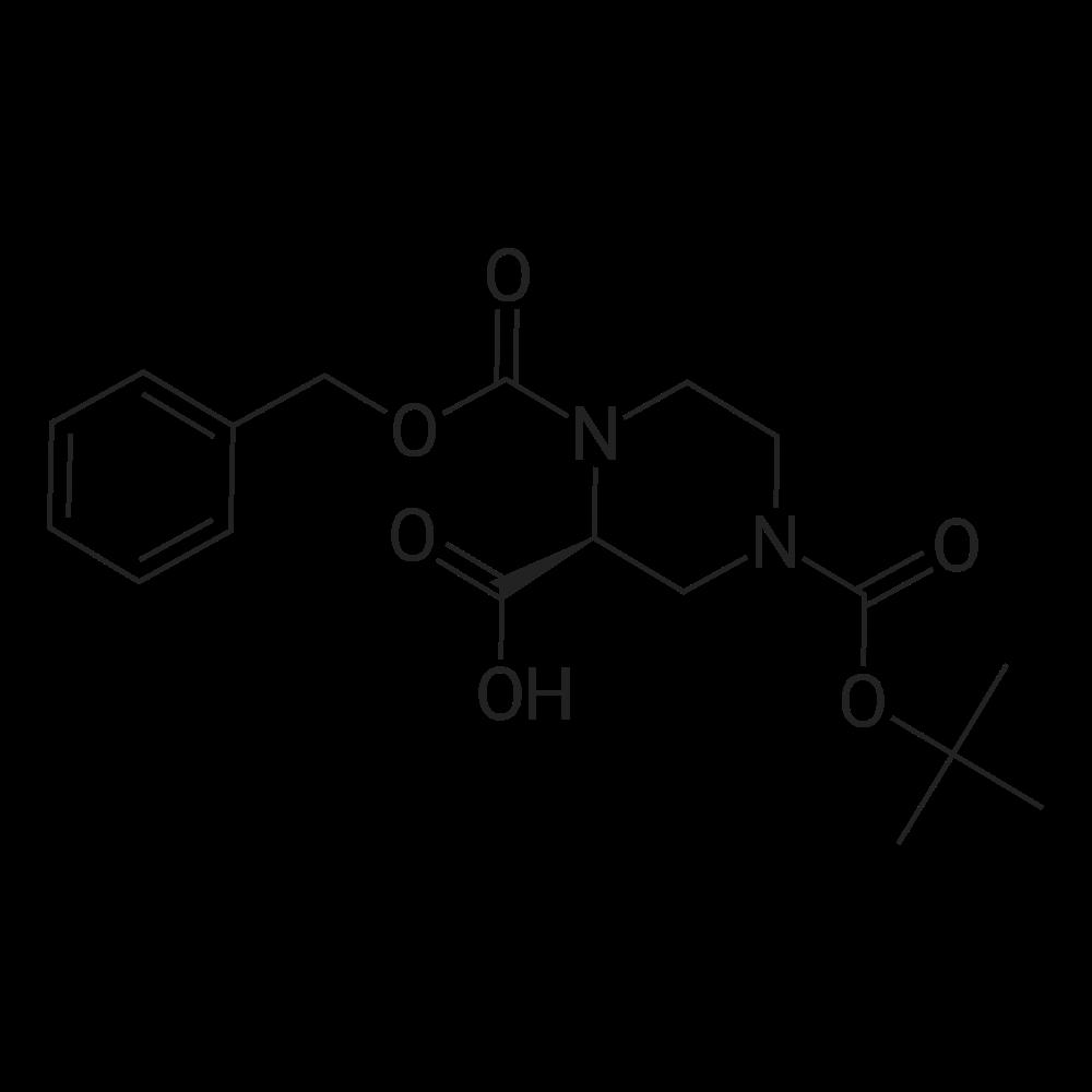 (S)-1-((Benzyloxy)carbonyl)-4-(tert-butoxycarbonyl)piperazine-2-carboxylic acid