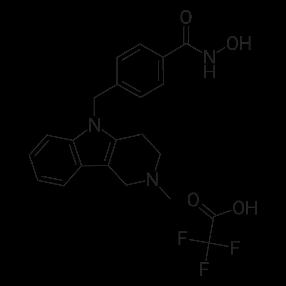 N-Hydroxy-4-((2-methyl-3,4-dihydro-1H-pyrido[4,3-b]indol-5(2H)-yl)methyl)benzamide 2,2,2-trifluoroacetate