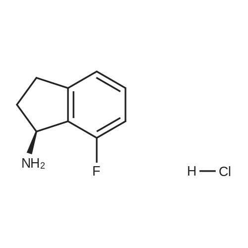 (S)-7-Fluoro-2,3-dihydro-1H-inden-1-amine hydrochloride