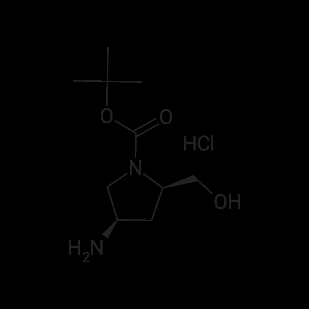 (2R,4R)-tert-Butyl 4-amino-2-(hydroxymethyl)pyrrolidine-1-carboxylate hydrochloride
