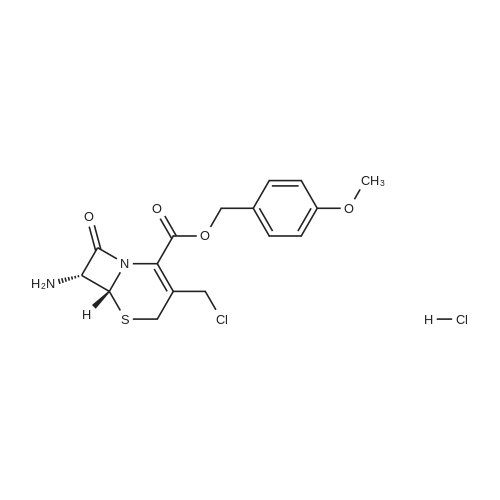 (6R,7R)-4-Methoxybenzyl 7-amino-3-(chloromethyl)-8-oxo-5-thia-1-azabicyclo[4.2.0]oct-2-ene-2-carboxylate hydrochloride